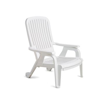 Picture of Bahia Plastic Resin Deck Chair, Stackable 30 lbs.