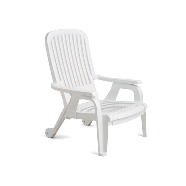 Picture Of Bahia Plastic Resin Deck Chair Stackable 30 Lbs