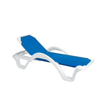 Picture of Catalina Plastic Resin Sling Stackable Chaise Lounge, Pool Furniture, 35 lbs.