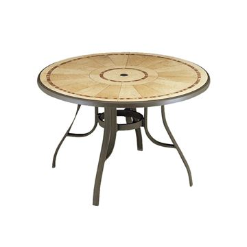 "Picture of Louisiana 48"" Round Table with Metal Legs, 44 lbs."