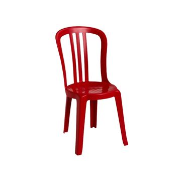 Miami Bistro Plastic Resin Stacking Side Chair - White