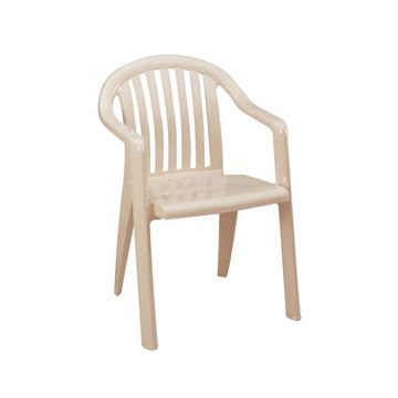 Miami Lowback Plastic Resin Stacking Armchair - Sandstone