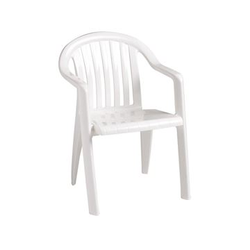 Picture of Miami Lowback Plastic Resin Stacking Armchair, 9 lbs.