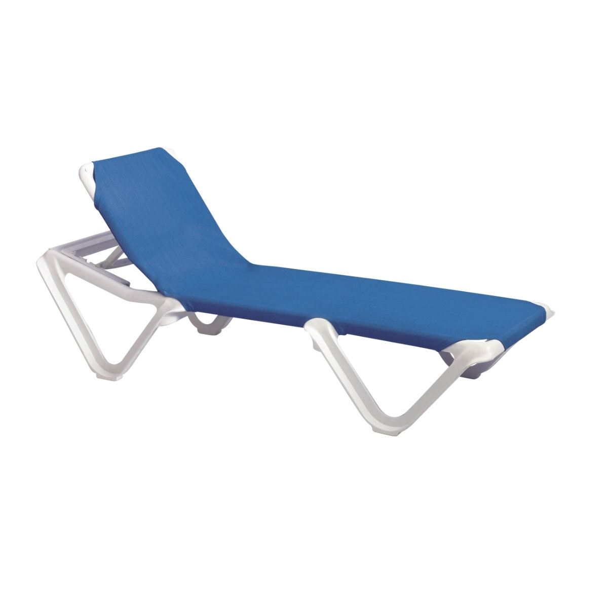 Chaise Lounge Frame Sling Plastic Resin Nautical Pool