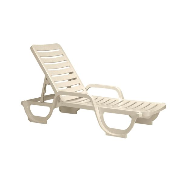 Picture of Sandstone Bahia Plastic Resin Chaise Lounge, 30 lbs.