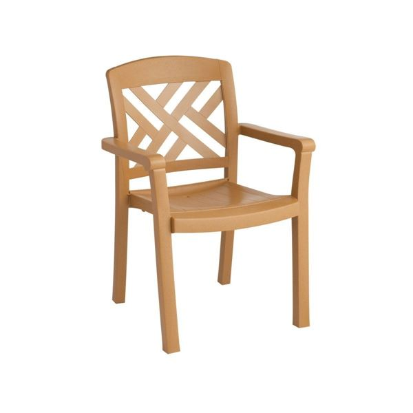 Sanibel Plastic Resin Stacking Dining Armchair