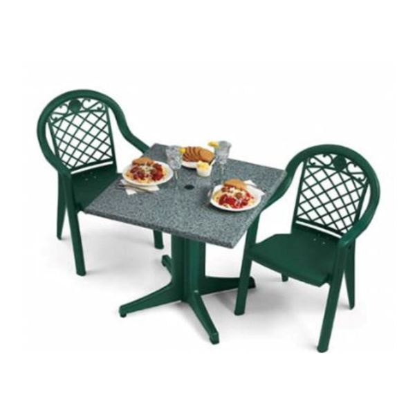 Picture of Savannah Dining Sets, Includes  2 Armchairs and a Square 32 Inch Molded Melamine Tables, Minimum Order Required