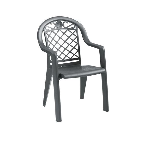 Picture of Savannah Plastic Resin Stacking Armchair, 9 lbs.