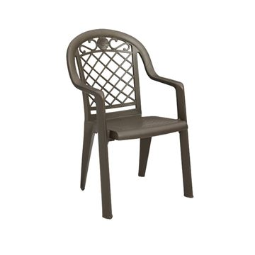 Savannah Plastic Resin Stacking Armchair