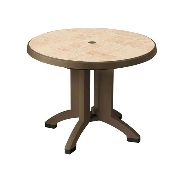 Siena 38 Inch Round Resin Table