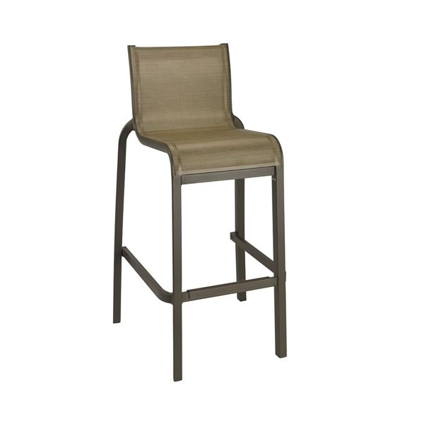 Picture of Sunset Sling Armed Barstool, with Aluminum Frame by Grosfillex. 24 lbs.