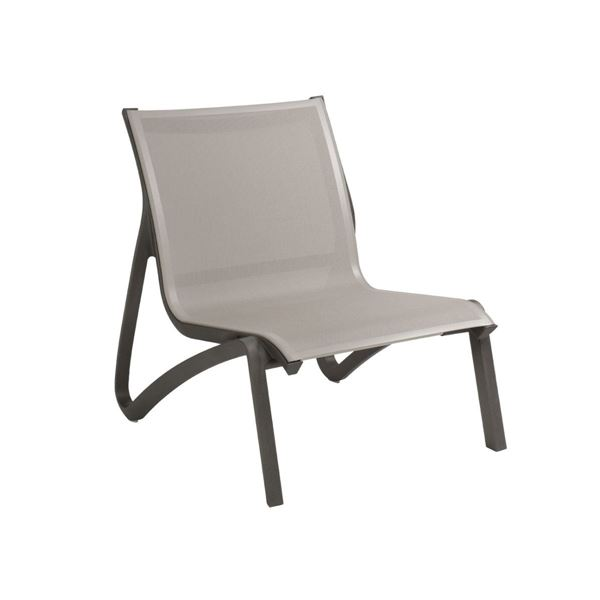 Sunset Sling Lounge Chair, with Aluminum Frame by Grosfillex.