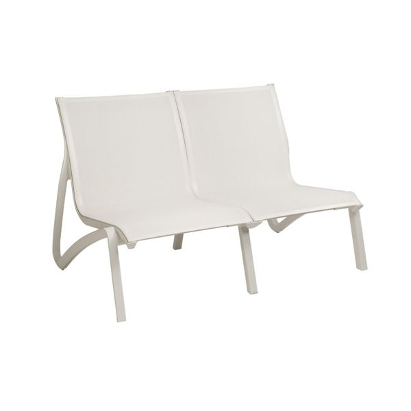 Sunset Sling Love Seat Chair, with Aluminum Frame by Grosfillex