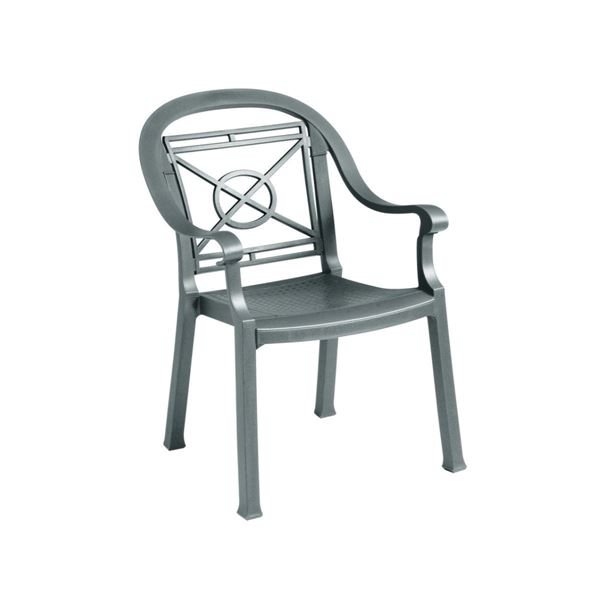 Victoria Clic Plastic Resin Stacking Armchair