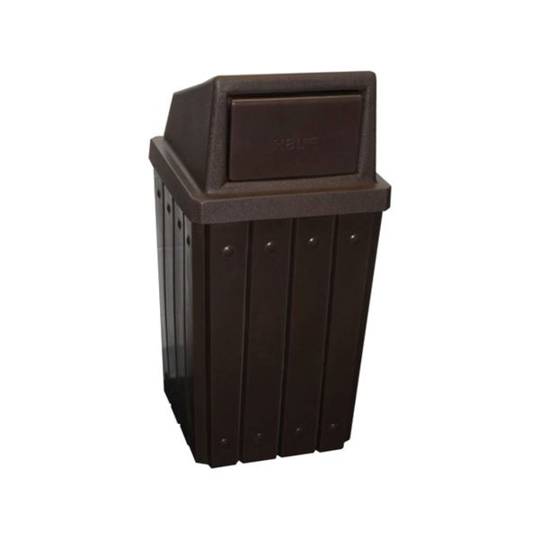 32 Gallon Pool Deck Trash Can with Liner and Dome Lid