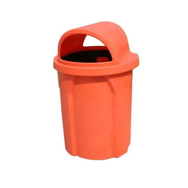 42 Gallon Pool Deck Trash Can with 2 Way Lid & Liner