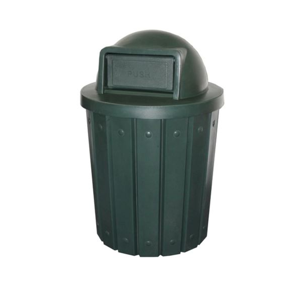 42 Gallon Pool Deck Trash Can with Dome Top Lid & Liner