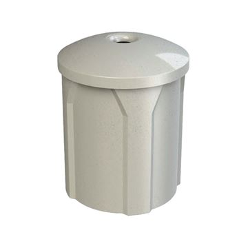 42 Gallon Pool Deck Trash Can with Mushroom Lid & Liner