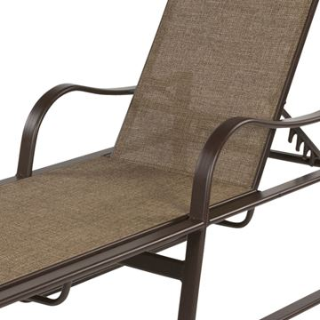 Picture of Corsica Chaise Lounge with Arms Fabric Sling with Aluminum Frame, 35 lbs.