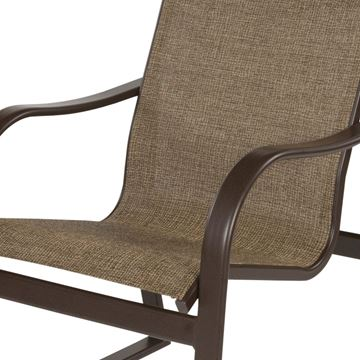 Picture of Corsica Dining Arm Chair, Sling Fabric with Aluminum Frame, 16 lbs.