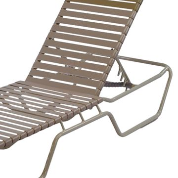 Picture of St. Maarten Extended Bed  Chaise Lounge Vinyl Straps with Aluminum Frame, 24 lbs.