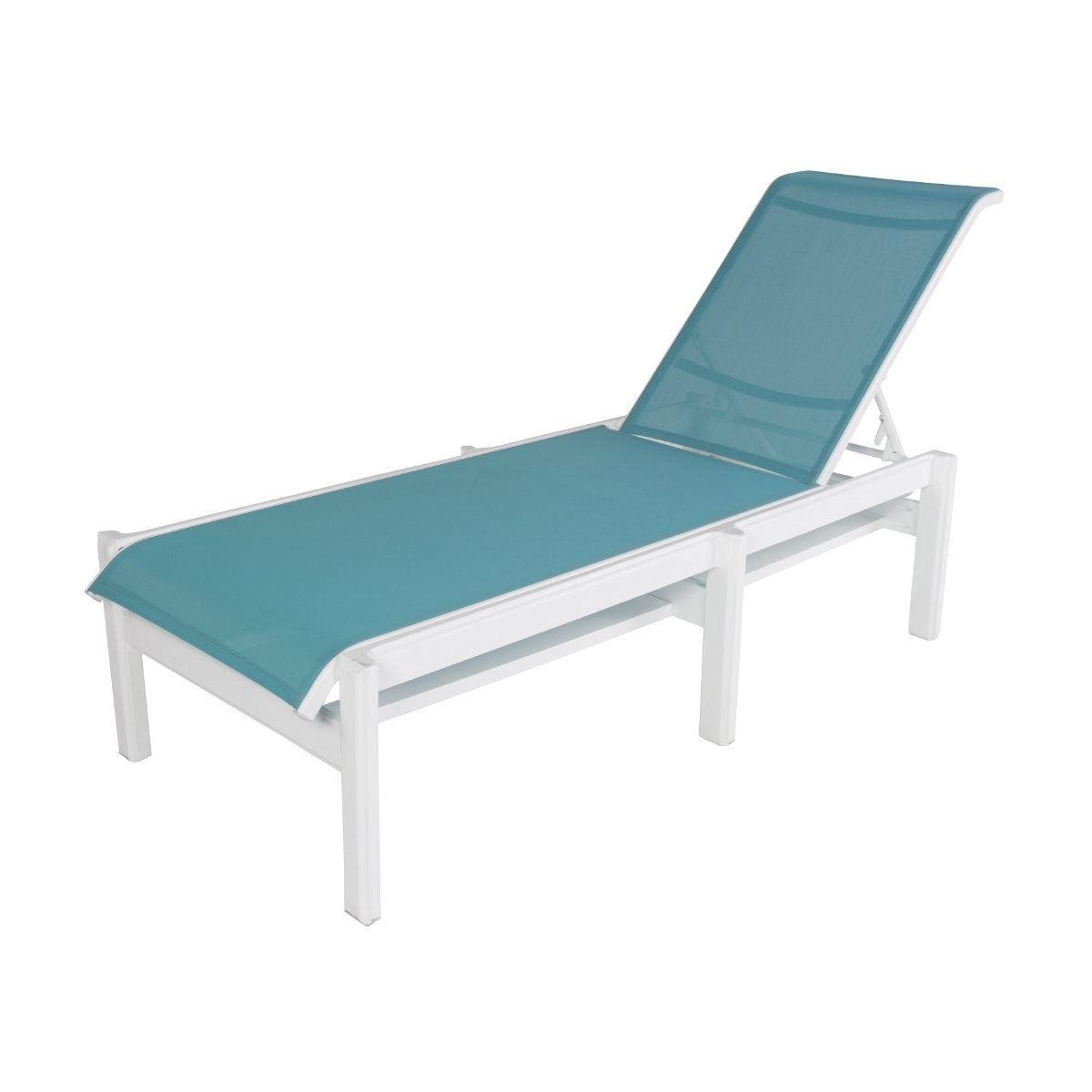 Armless Chaise Lounge Fabric Lounge Marine Grade Polymer