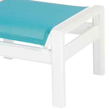 Picture of Hampton Sling Fabric Ottoman with Marine Grade Polymer Frame, 20 lbs.