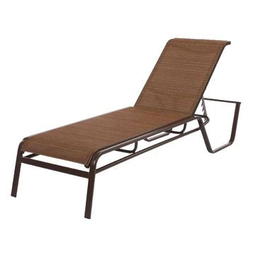 Monterey Chaise Lounge Fabric Sling with Stackable Aluminum Frame
