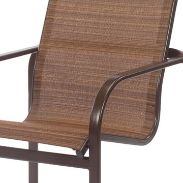 Picture of Monterey Dining Chair Fabric Sling with Stackable Aluminum Frame,13 lbs.