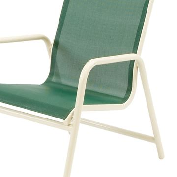 Picture of Neptune Dining Chair Fabric Sling with Stackable Aluminum Frame, 13 lbs.