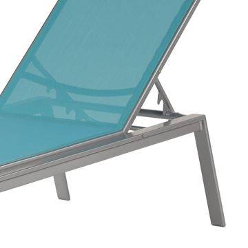 Skyway Armless Chaise Lounge Fabric Sling with Stackable Aluminum Frame