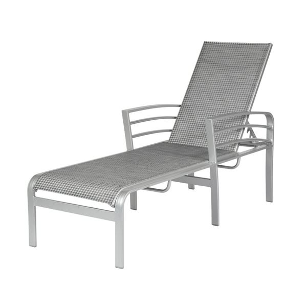 Skyway Chaise Lounge with Arms Fabric Sling with Aluminum Frame