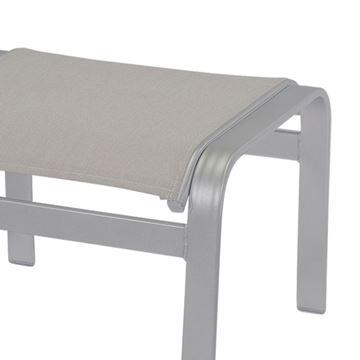 Skyway Ottoman, Sling Fabric with Aluminum Frame
