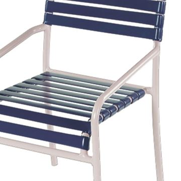 Picture of St. Lucia Dining Chair,  Vinyl Straps with Aluminum Frame Pool Furniture