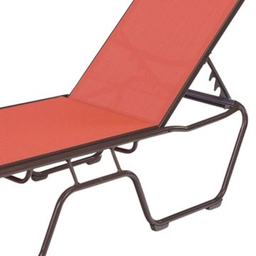 St. Maarten Chaise Lounge Sling with Stackable Aluminum Frame, 20 lbs.