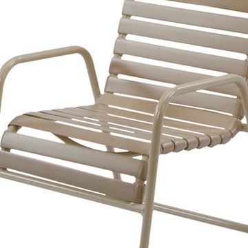Picture of St. Maarten Dining Chair Vinyl Straps with Aluminum Frame