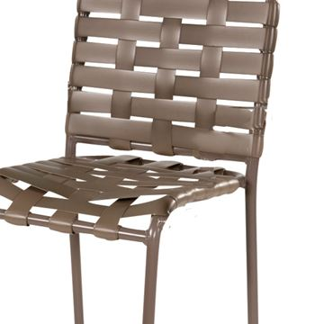 St. Maarten Poolside Bar Stool, Crossweave Vinyl Straps with Aluminum Frame Pool Furniture