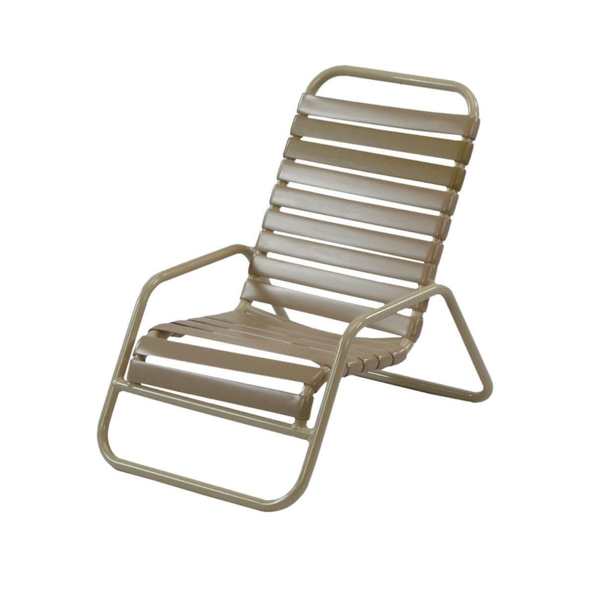 Sand Chair Vinyl Strap Aluminum Frame St Maarten Pool