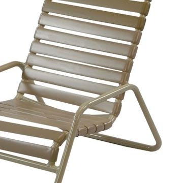 Picture of St. Maarten Sand Chair,Pool furniture with Vinyl Straps and Aluminum Frames