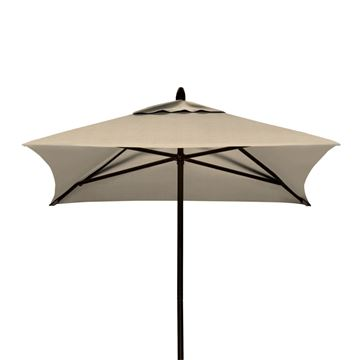 Picture of 6' Square Market Umbrella, Commercial Powdercoat Aluminum by Telescope Casual. 17 Lbs