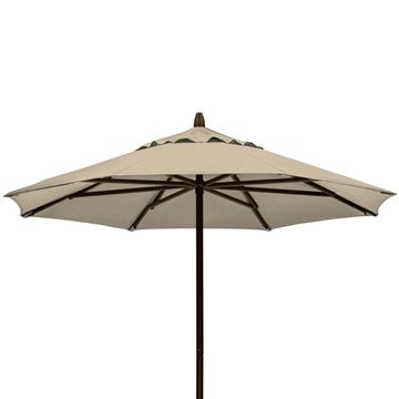 Picture of 7' Commercial Market Umbrella by Telescope Casual, Powder coated aluminum frame, 18 lbs.