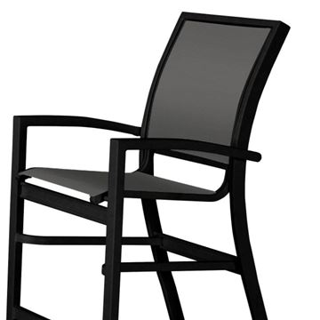 Picture of Kendall Sling Stacking Balcony Height Stacking Café Chair with Aluminum Frame, 24 lbs.