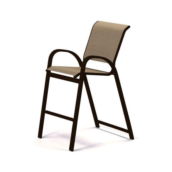 Telescope Aruba Bar Height Cafe Chair Fabric Sling with Aluminum Frame