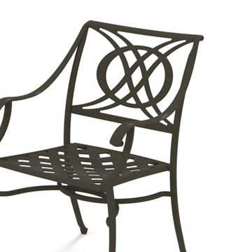 Telescope Cadiz Arm Chair Cast Aluminum
