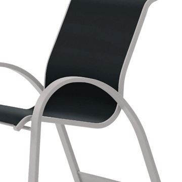 Telescope Aruba Arm Chair Fabric Sling with Aluminum Frame