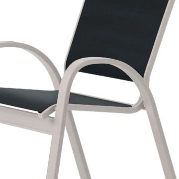 Telescope Aruba Cafe Chair Fabric Sling with Aluminum Frame