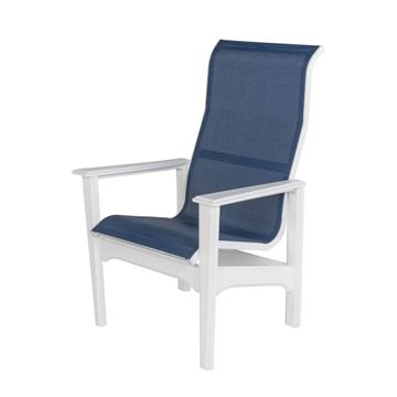 Picture of Cape Cod Sling Fabric High Back Dining Chair with Marine Grade Polymer Frame, 28 lbs.