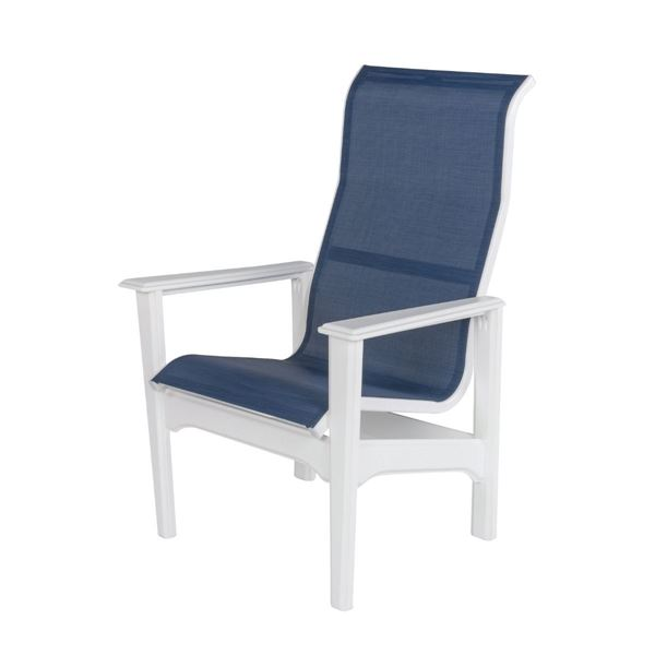 Cape Cod Sling Fabric High Back Dining Chair