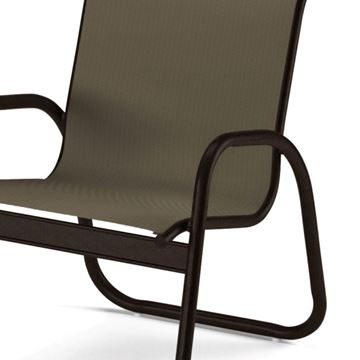 Telescope Gardenella Arm Chair Fabric Sling with Aluminum Frame