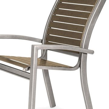 Telescope Kendall Strap Stacking Cafe Chair with Aluminum Frame